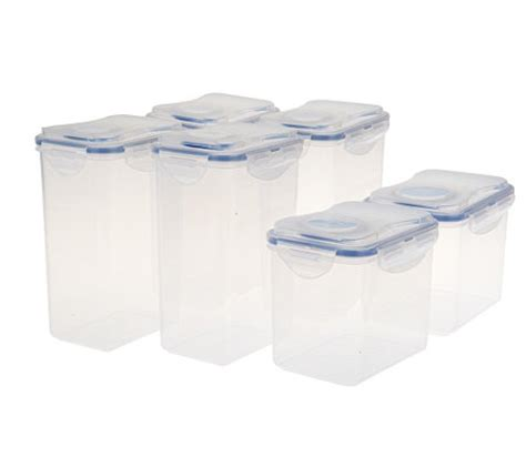 lock lock 6pc flip top pantry storage set with color