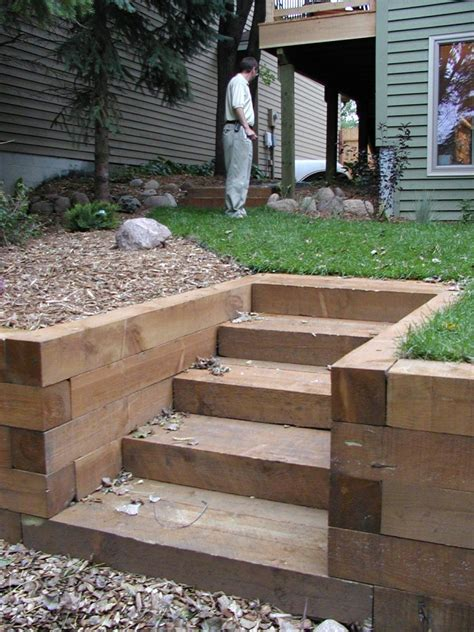 Landscape Timbers Steps Garden Stairs Photos Steps Stairs Llgardens S
