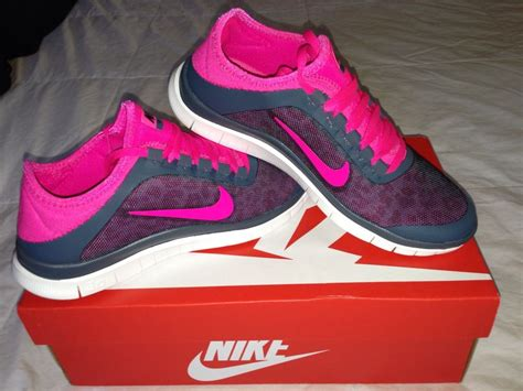 nike free 3 0 v5 pink and grey leopard running shoes w