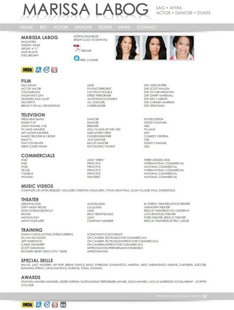 dancer resume david chan portfolio dancer resume work find it