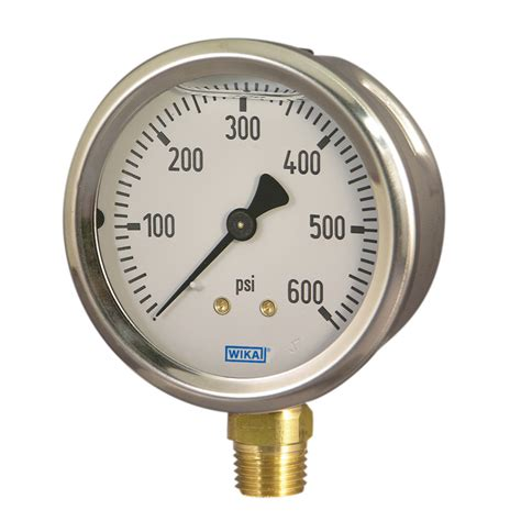 Wika Pressure 232 50 100 Range 600 Bar 2nd Scale Psi bourdon pressure stainless steel 213 53 wika usa