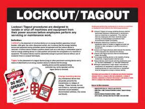 Lock Out Tag Out Procedures Template by Lockout Tagout Awareness Poster