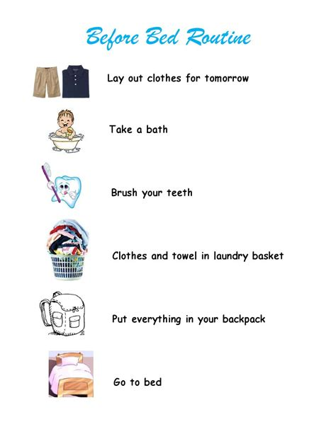 Is It To Workout Before Bed by One Sewing Mommie Before Bed Routine Printable
