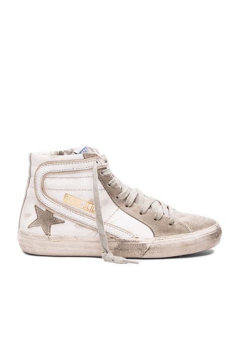 golden goose deluxe brand slide sneakers in white lyst