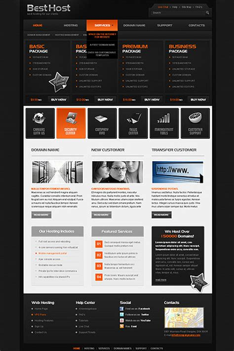 best hosting html website template best website templates