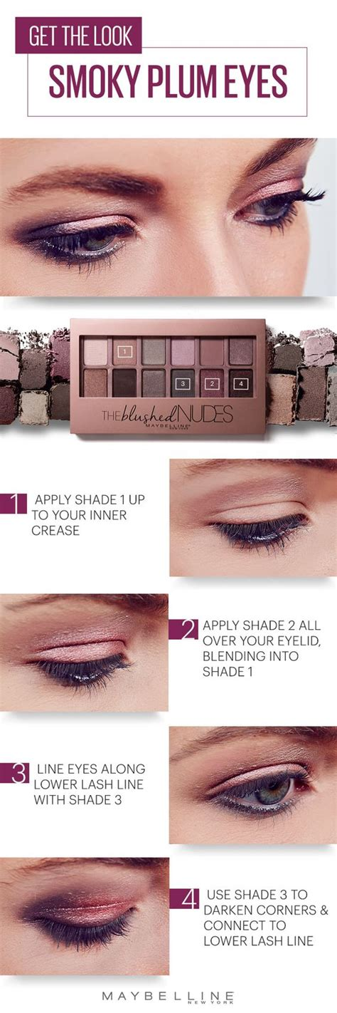 tutorial eyeshadow maybelline set those spring nights on fire with this smoky plum