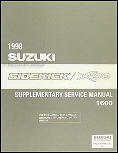 1998 suzuki sidekick 1600 x 90 repair shop manual supplement original