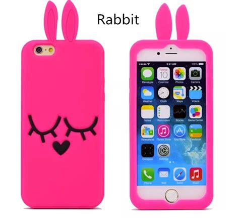 I Phone 7 Rabbit 1 3d characters iphone 7 plus owl cases for iphone 6s plus