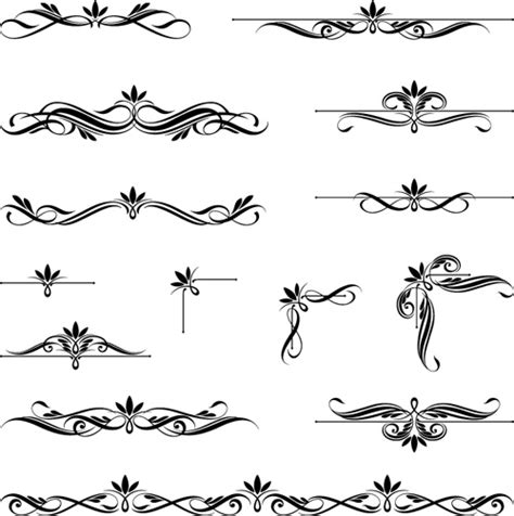 vintage ornament vector pattern ornaments calligraphy vintage vectors 02 vector ornament