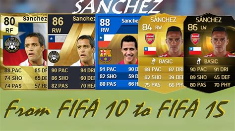 alexis sanchez ultimate team alexis sanchez ultimate team cards from fifa 10 to fifa 15