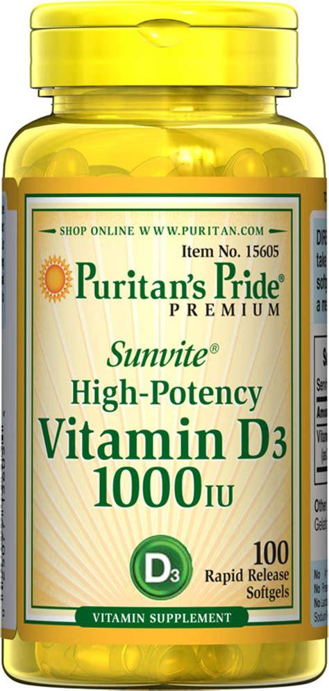 Puritan Pride Vitamin D3 10000iu Isi 100 vitamin d3 2000 iu 100 softgels