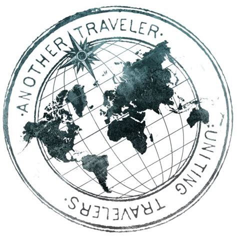 globe tattoo logo another traveler logo i like how the map is flat on top