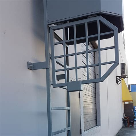 lockable roof ladders access ladder with safety cage and locking gate access stairs