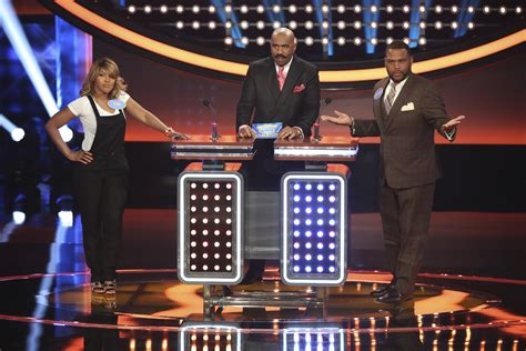 what is celebrity family feud steve harvey s celebrity family feud opens with braxtons