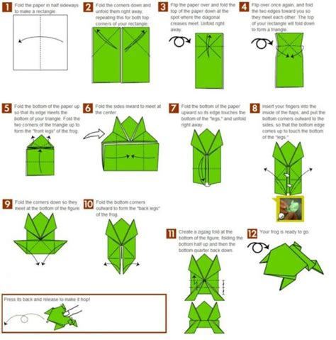 How To Make A Jumping Frog Out Of Paper - free coloring pages origami jumping frog 101 coloring pages