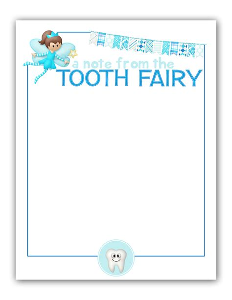 editable tooth fairy letter