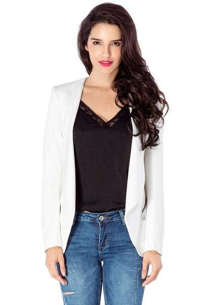 white draped blazer white draped blazer lookbook store