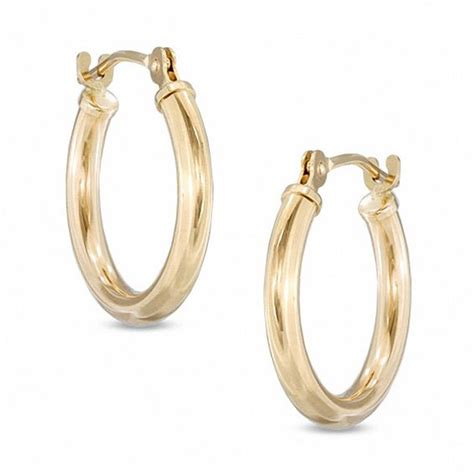 16mm hoop earrings in 14k gold gold earrings earrings