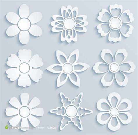pattern for butterfly jasmine paper flower 美不胜收的立体剪纸花朵模板 素材公社 tooopen com