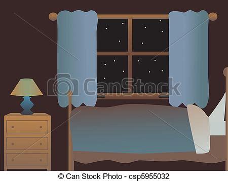 letto vuoto illustrazioni vettoriali di letto vuoto notte