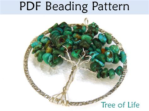 how to make tree of jewelry bead pattern tutorial pendent wire working simple bead