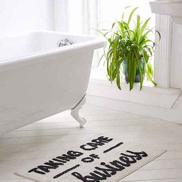 Taking Care Of Business Bath Mat From Urban Outfitters Taking Care Of Business Bathroom Accessories