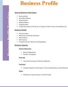 business bio template free business profile template 2 formxls