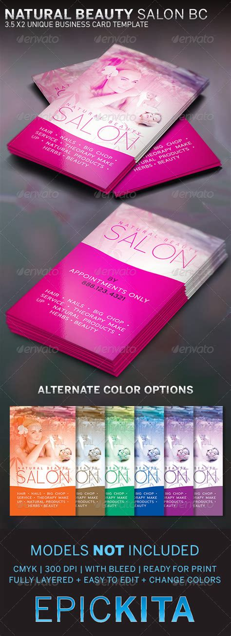 salon business card template salon and spa business card graphicmule