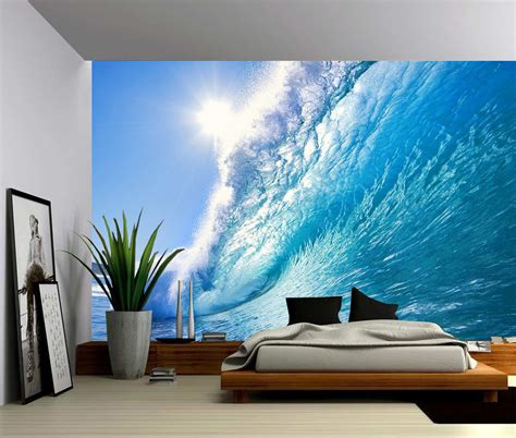 wall mural vinyl wave large wall mural self adhesive vinyl wallpaper