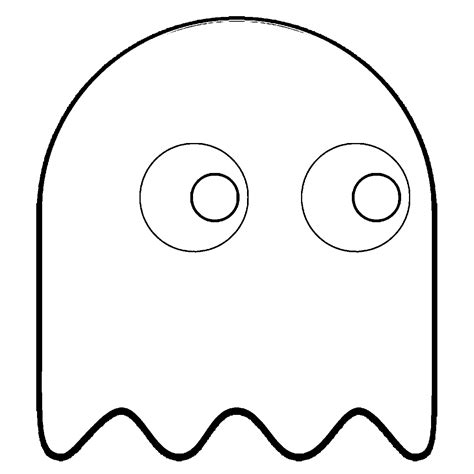 pacman ghost coloring pages pac man characters coloring pages