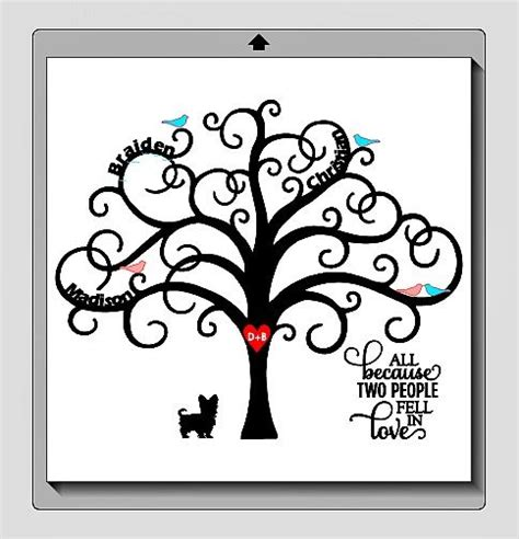 family tree frame with vinyl gift ideas pinterest