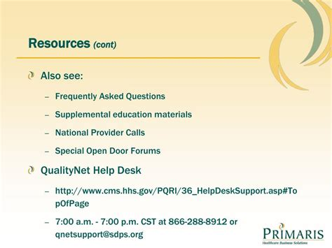 Qualitynet Help Desk by Ppt Quality Reporting For Physicians Pqrs Physician
