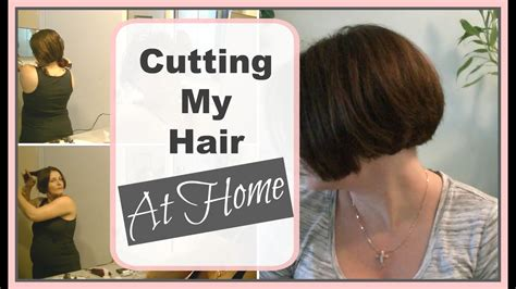 how to cut myself meduimshag at home how i cut my a line bob at home diy bob haircut youtube