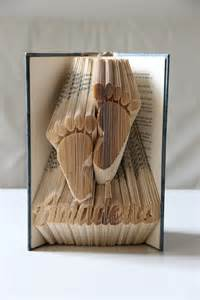 Book as home decor with folded pages made by klausundso via dawanda