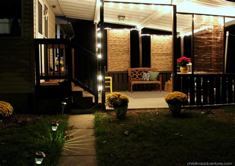 porch at night back deck reveal decorated for fall christinas adventures