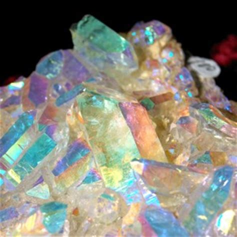 aura crystals angel aura quartz crystal cluster