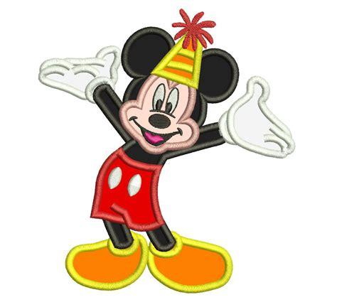 Happy Birthday Mickey Mouse Design | mickey mouse happy birthday applique design