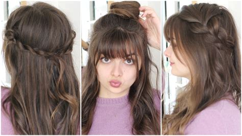 modern hairstyles easy to fix superb hairstyle ideas with bangs for girls hairzstyle