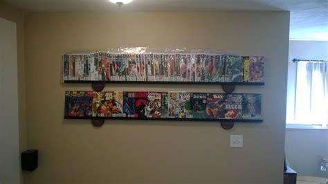 simple cheap modern comic book display shelf