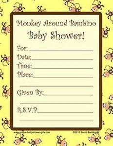 free printable monkey baby shower invitations dolanpedia