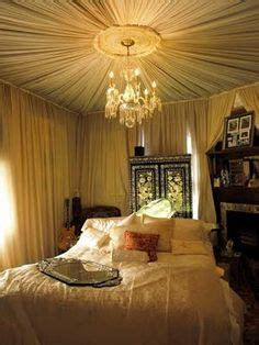 decorating bedroom walls with fabric 1000 ideas about fabric ceiling on pinterest unfinished