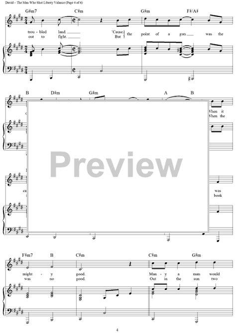 The Who Liberty Valance Chords the who liberty valance sheet for piano and more onlinesheetmusic