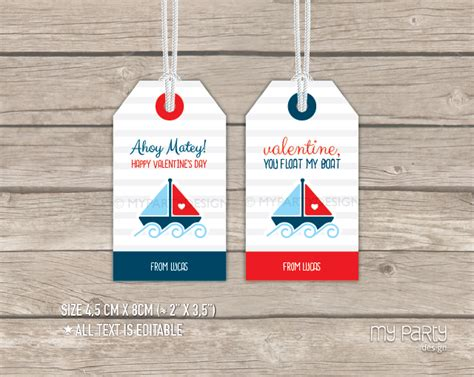boat tags valentine s day tags printable nautical theme my party