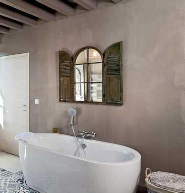 Supérieur Beton Lisse Salle De Bain #1: salle-de-bain-relookee-avec-du-beton-mineral-gris-taupe.jpg