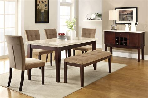 dining room sets big  small  bench seating