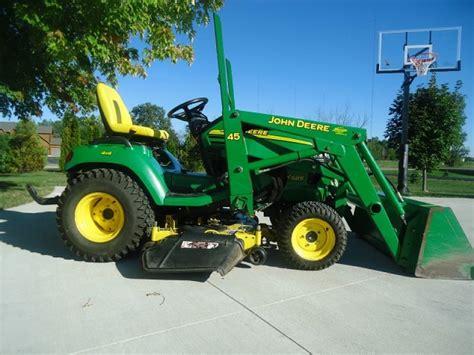 john deere   garden tractor  loader