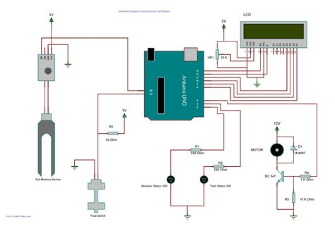 tree system of house wiring arduino irrigation and automatic plant watering with soil