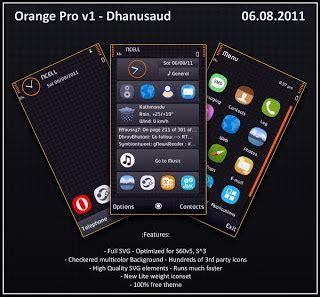 themes nokia orange nokia themes free download for nokia 5800 5530 5230 n97
