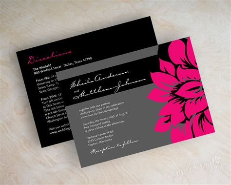grey and pink wedding invitation cards pink and black wedding invitations oxsvitation