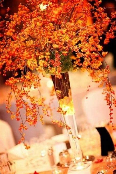 vibrant  fun fall wedding centerpieces deer pearl
